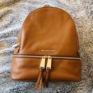 Michael Kors Rhea Saffiano Leather backpack NWT
